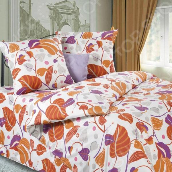 Комплект постельного белья DIANA P&W «Золотые листья». 1,5-спальный