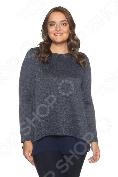 Блуза Prima Linea «Женская нежность». Цвет: синий
