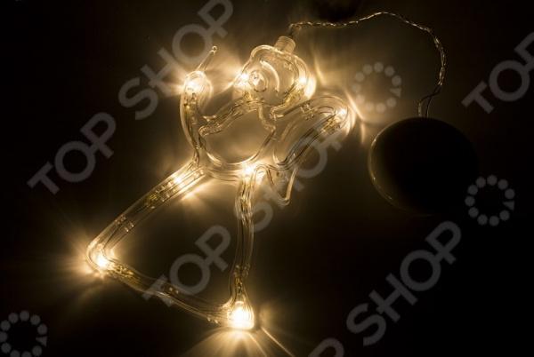 Фигура светодиодная Neon-Night на присоске с подвесом «Ангелок» фигура акриловая светодиодная neon night мухомор 120 led с понижающим трансформатором 35 х 35 см