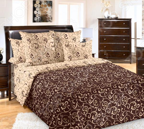 Комплект постельного белья Королевское Искушение «Вензель-1». Евро