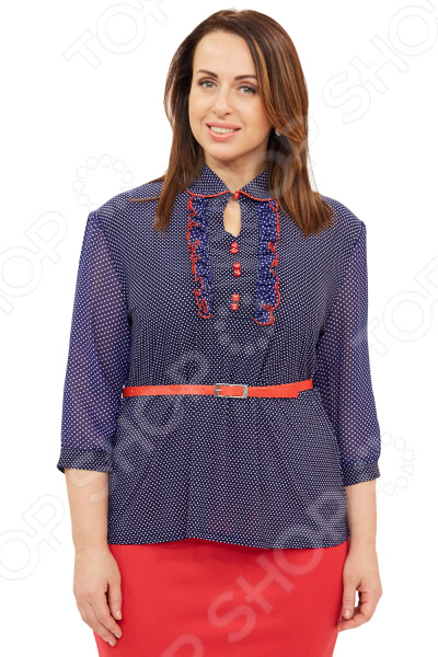 Блузка Grace «Эллада». Цвет: синий