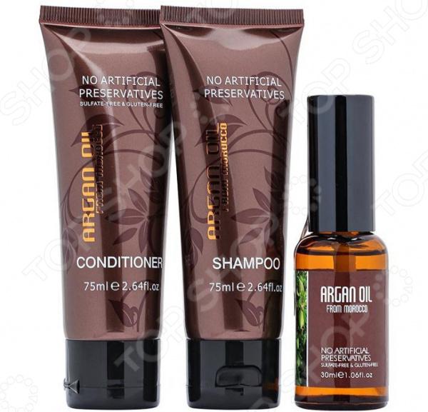 Набор: шампунь, кондиционер и масло для волос Morocco Argan Oil