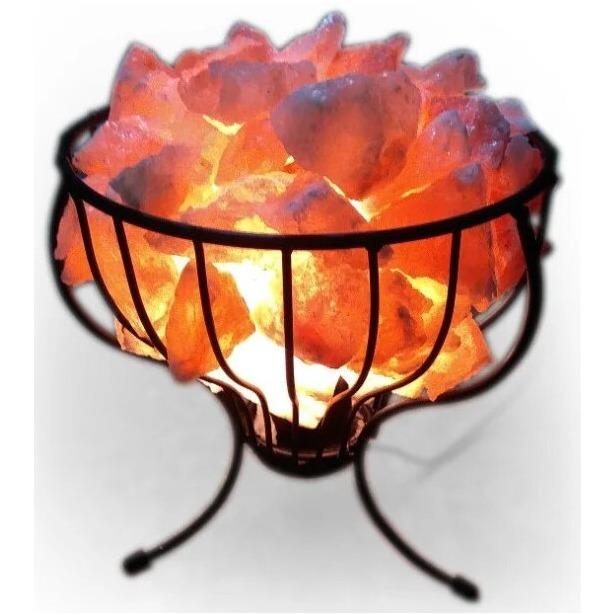 фото Лампа солевая Zenet «Корзина с кристаллами»