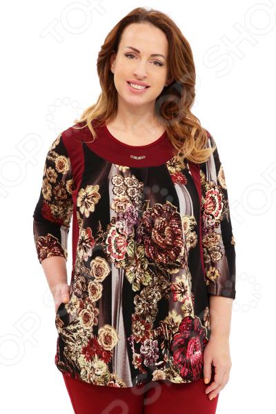 Туника Лауме-Лайн «Обаятельная и привлекательная». Цвет: бордовый блуза лауме лайн перелетная птица цвет бордовый
