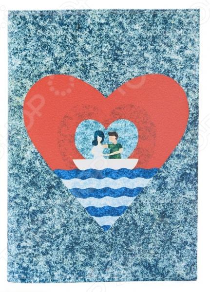 Обложка для автодокументов кожаная Mitya Veselkov «Лодка любви»
