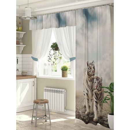 Купить Комплект штор для окна с балконом ТамиТекс «Белые тигры»