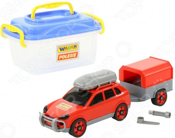 Набор: машинка с конструктором Wader «Автомобиль легковой с прицепом» Набор: машинка с конструктором Wader «Автомобиль легковой с прицепом» /