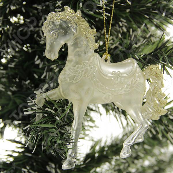 Елочное украшение со светодиодами Елочное украшение Crystal Deco «Лошадь»