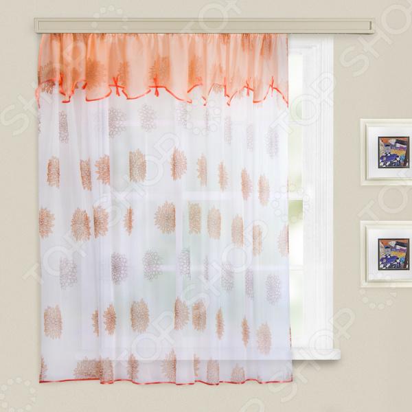 Гардина WITERRA «Юна». Цвет: персиковый. В ассортименте