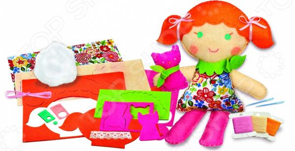 Набор для изготовления куклы 4M «Школа шитья. Кукла и котенок»