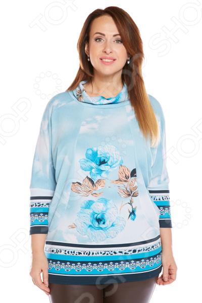 Туника Pretty Woman «Королевский цветок». Цвет: голубой цена 2017