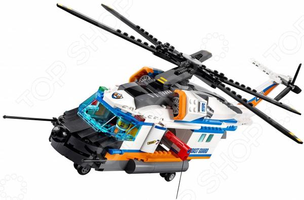 Конструктор игрушечный LEGO 60166 «Сверхмощный спасательный вертолет» lego city 60166 конструктор лего город сверхмощный спасательный вертолёт