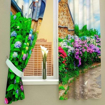 Купить Фотошторы Сирень «Загородный сад»