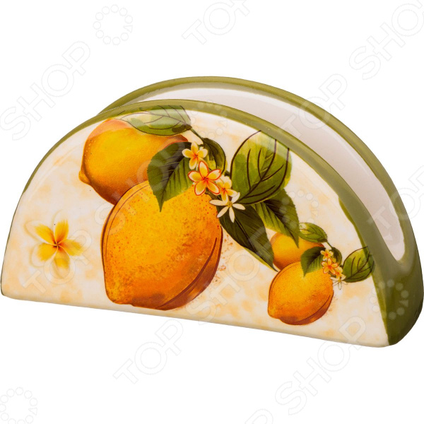 Салфетница Agness «Лимоны» 358-1130