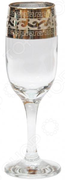Набор выпуклых бокалов для шампанского Гусь Хрустальный «Версаче»