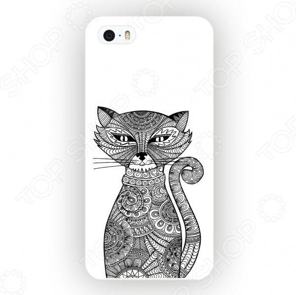 Чехол для iPhone 5 Mitya Veselkov «Зентангл: Кошка» чехлы для телефонов mitya veselkov чехол для iphone 7 plus зентангл череп ip7plus mitya 010