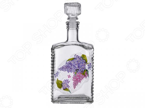 Графин «Сирень» 484-488 графин 500мл д водки стекло