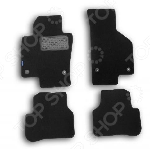 Комплект ковриков в салон автомобиля Novline-Autofamily Volkswagen Passat CC 2012 седан. Цвет: черный