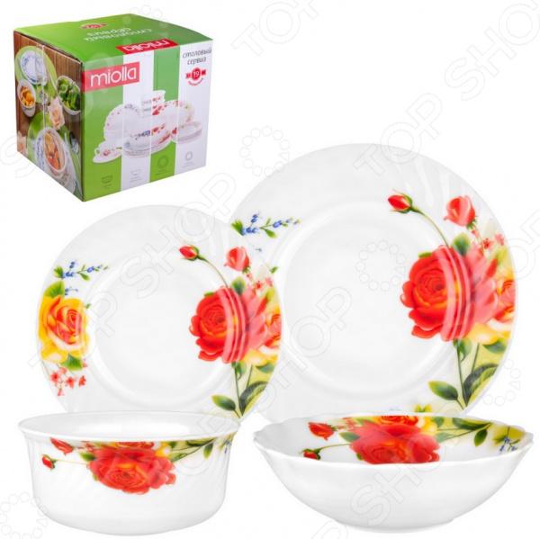 Сервиз столовый Miolla «Чайная роза»