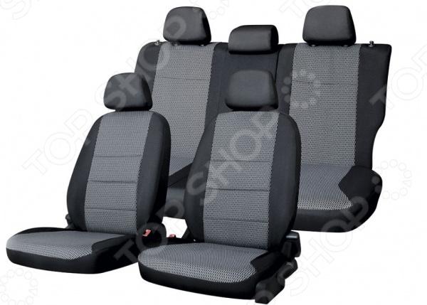Набор чехлов для сидений Defly KIA Rio, 2011-2017, 3-е поколение (UB), седан набор чехлов для дивана и кресел мартекс с карманами 3 предмета 05 0751 3