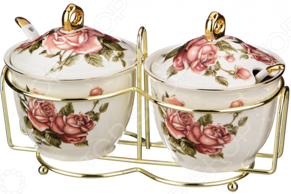 Набор банок для сыпучих продуктов Lefard «Розы» gift planet набор банок для сыпучих продуктов прованс из 4 х шт 13231