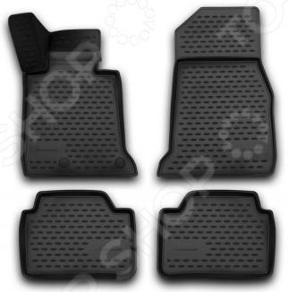 Комплект 3D ковриков в салон автомобиля Novline-Autofamily Hyundai Elantra 2007 комплект 3d ковриков в салон автомобиля novline autofamily ford mondeo 2015