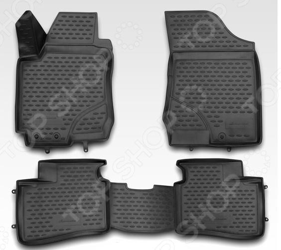 Комплект ковриков в салон автомобиля Novline-Autofamily Hyundai i30 2007 комплект чехлов на весь салон seintex 86126 для hyundai i30 2011 black