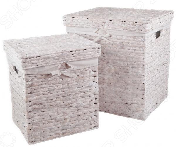 Набор корзин для хранения с крышкой Miolla GEO. Количество предметов: 2 шт