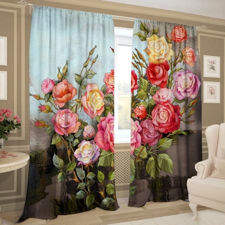 Купить Комплект фотоштор ТамиТекс «Кустовые розы»