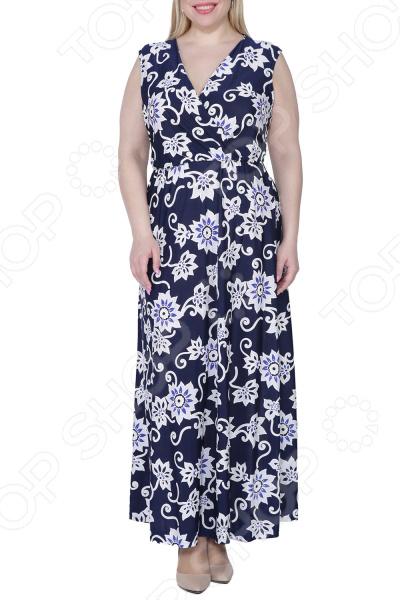Платье Kidonly «Цветочный блюз». : темно-синий