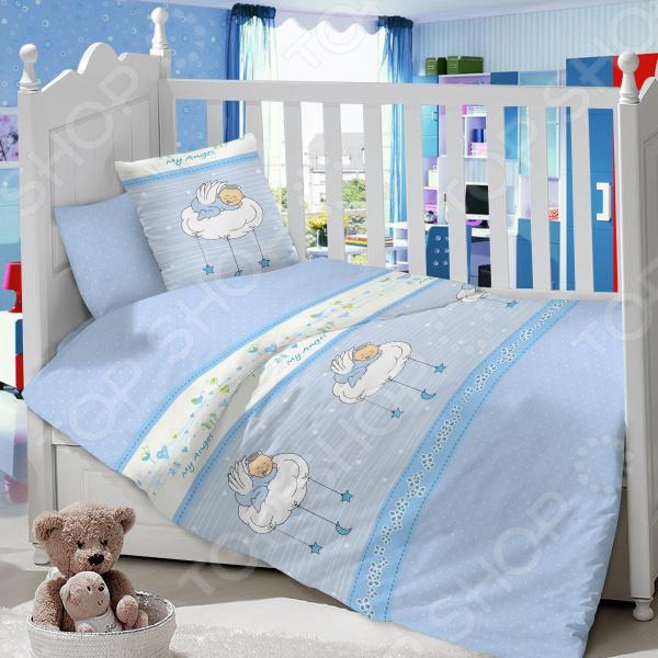 Ясельный комплект постельного белья Dream Time «Мой ангел» постельное белье dream time кружочки 3 предмета