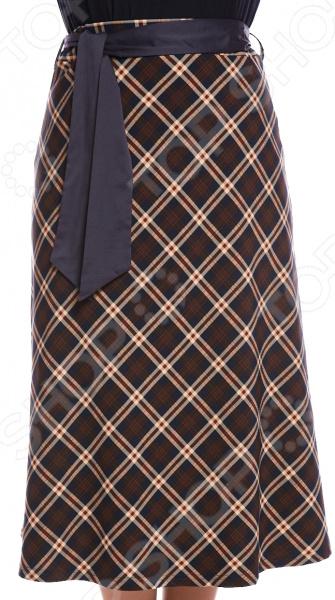 Юбка Гранд Гром «Чувство легкости». Цвет: коричневый, красный
