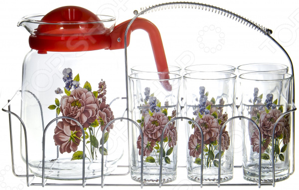 Набор: кувшин и 6 стаканов OlAff SLD-7DS915-R-002