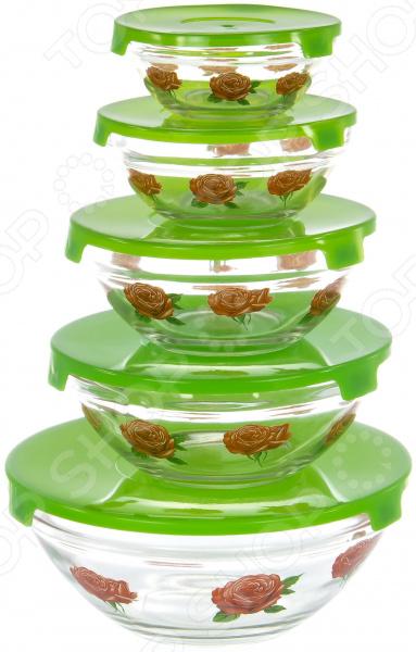 Набор салатников OlAff AX-5SB-G-01 набор салатников olaff с крышками 5 шт ax 5sb r 02