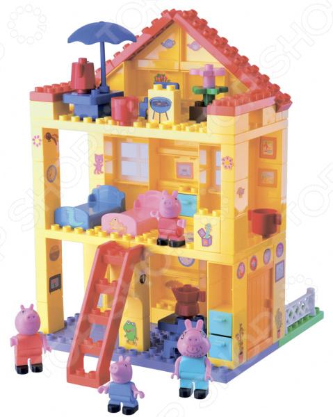 Конструктор детский BIG Любимый дом станет прекрасным подарком для вашего малыша, позволяя ему не только весело проводить время за сборкой красочного изображения, но и развиваться. Во время сборки конструктора у ребенка развивается воображение, пространственное мышление, сообразительность, логика, мелкая моторика. Все детали конструктора выполнены из высококачественного пластика который не вызывает аллергических реакций и не имеет острых углов, способных нанести нежной коже ребенка повреждения. Элементы конструкторы окрашены в яркие цвета и сделают собранную конструкцию украшением детской комнаты для вашего малыша. Собрав всю конструкцию ребенок сможет весело играть с героями любимого мультика. Малыш может развивать и строить игровой сюжет согласно сценарию мультфильма или же внося в игру свои, придуманные им элементы. Собирать и играть с конструктором ребенок может как в одиночку так и с друзьями. Подарите своему малышу возможность весело проводить время и развивать свои интеллектуальные способности.