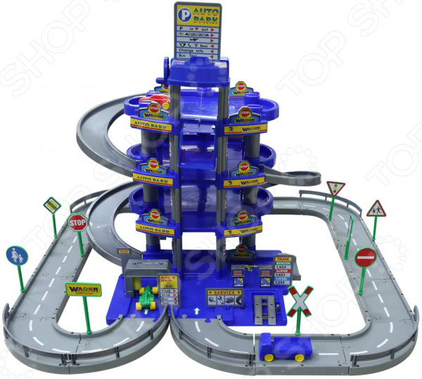 Набор игровой для мальчика Wader «Паркинг 4-уровневый с дорогой и автомобилями»