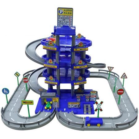Купить Набор игровой для мальчика Wader «Паркинг 4-уровневый с дорогой и автомобилями»