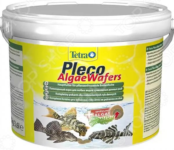 Корм для сомов Tetra Pleco Algae Wafers корм tetra tetraphyll flakes complete food for herbivorous fish хлопья для всех видов растительноядных рыб 10л 769915