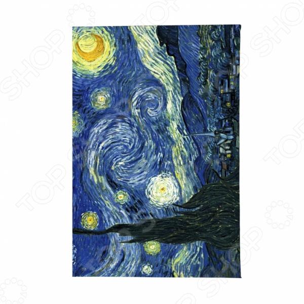 Обложка для паспорта кожаная Mitya Veselkov «Ван Гог. Звездная ночь» mitya veselkov обложка для автодокументов ван гог портрет
