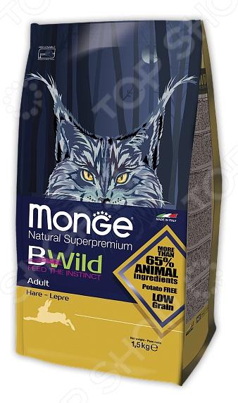 Корм сухой для пожилых кошек Monge Natural Superpremium Bwild Hare
