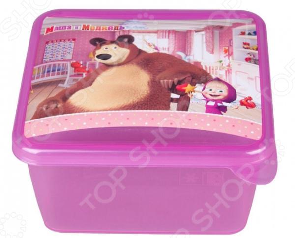 Детская емкость для хранения «Маша и Медведь» 0616002 емкость для хранения маша и медведь mini с крышкой цвет желтый 750 мл