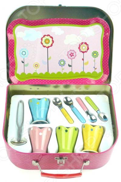 Набор посуды игрушечный 1 Toy для мороженого 1 toy игрушечный автомат пулемет взвод