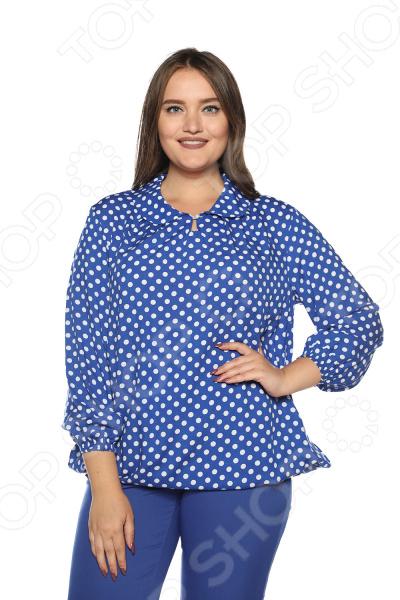 Блузка Pretty Woman «Нежность моя». Цвет: васильковый недорго, оригинальная цена
