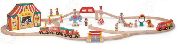 Набор железной дороги игрушечный Janod «Цирк»