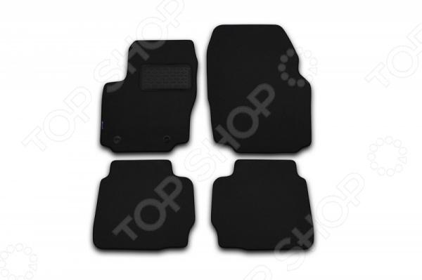 Комплект ковриков в салон автомобиля Novline-Autofamily Audi A4 8E 2004-2004. Цвет: черный коврик автомобильный novline autofamily для audi a4 allroad универсал 2008 в багажник nlc 04 12 b12