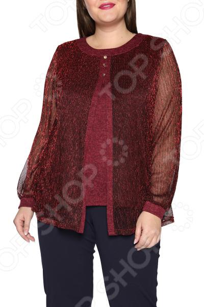 Блуза ТРЕНД «Берег любви». Цвет: красный блуза тренд радужный блеск цвет бордовый