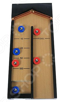 Керлинг настольный 42329 миниатюрная игра, имитирующая настоящую игру в керлинг. Основные правила остаются те же, что и в оригинальной игре. Игра отлично развивает ловкость, скорость и логическое мышление. Такая игра станет отличным подарком для юного любителя. Размер поля 41х18х3 см.
