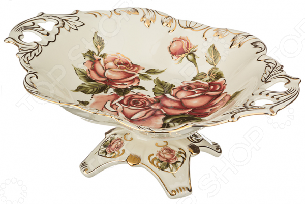 Фруктовница на ножке Lefard «Корейская роза» 215-041 lefard фруктовница kenya 20х22х35 см