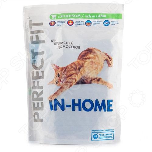Корм сухой для домашних кошек Perfect Fit In-Home rich in Lamb