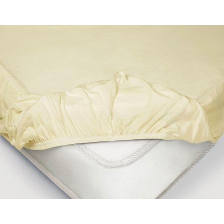 Купить Простыня на резинке Ecotex «Поплин-Комфорт». Цвет: ванильный